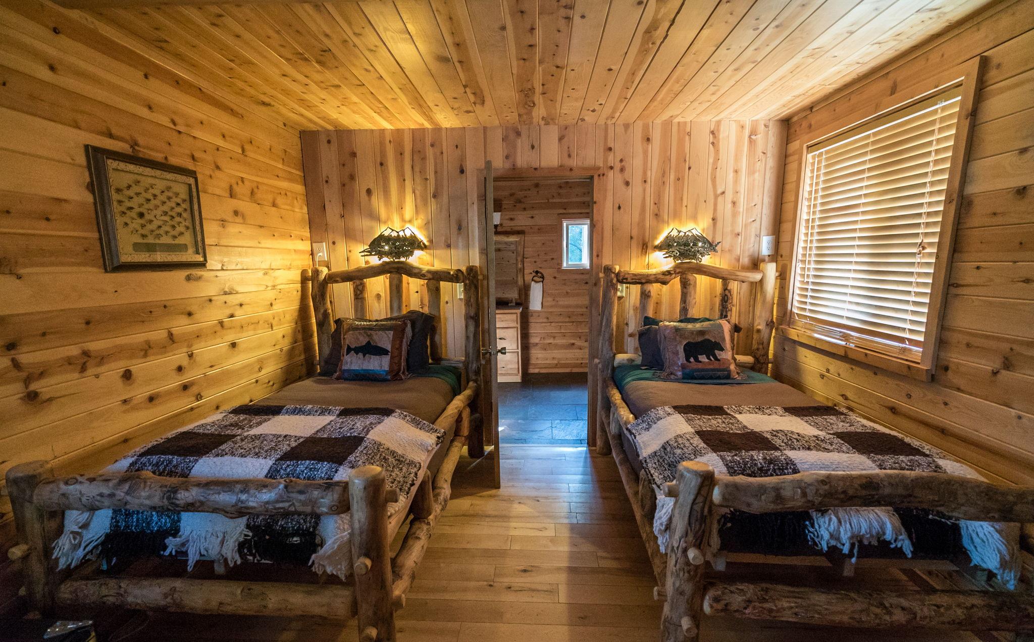 Alaskan fishing cabins