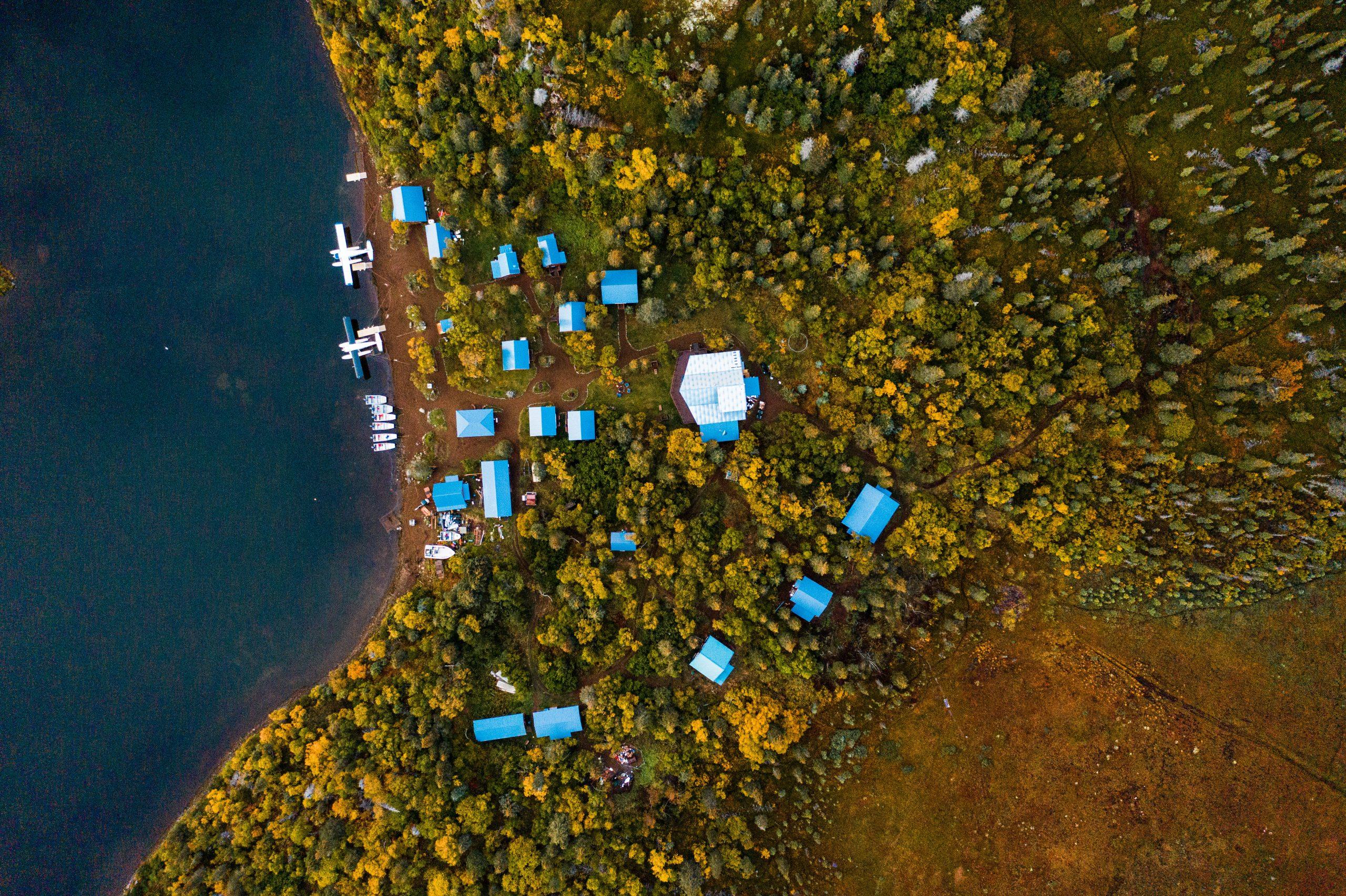 an overhead look at rainbow river lodge